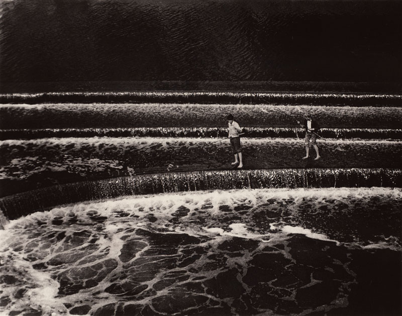 Boys Fishing, Bath England, 1984 | Scan 5