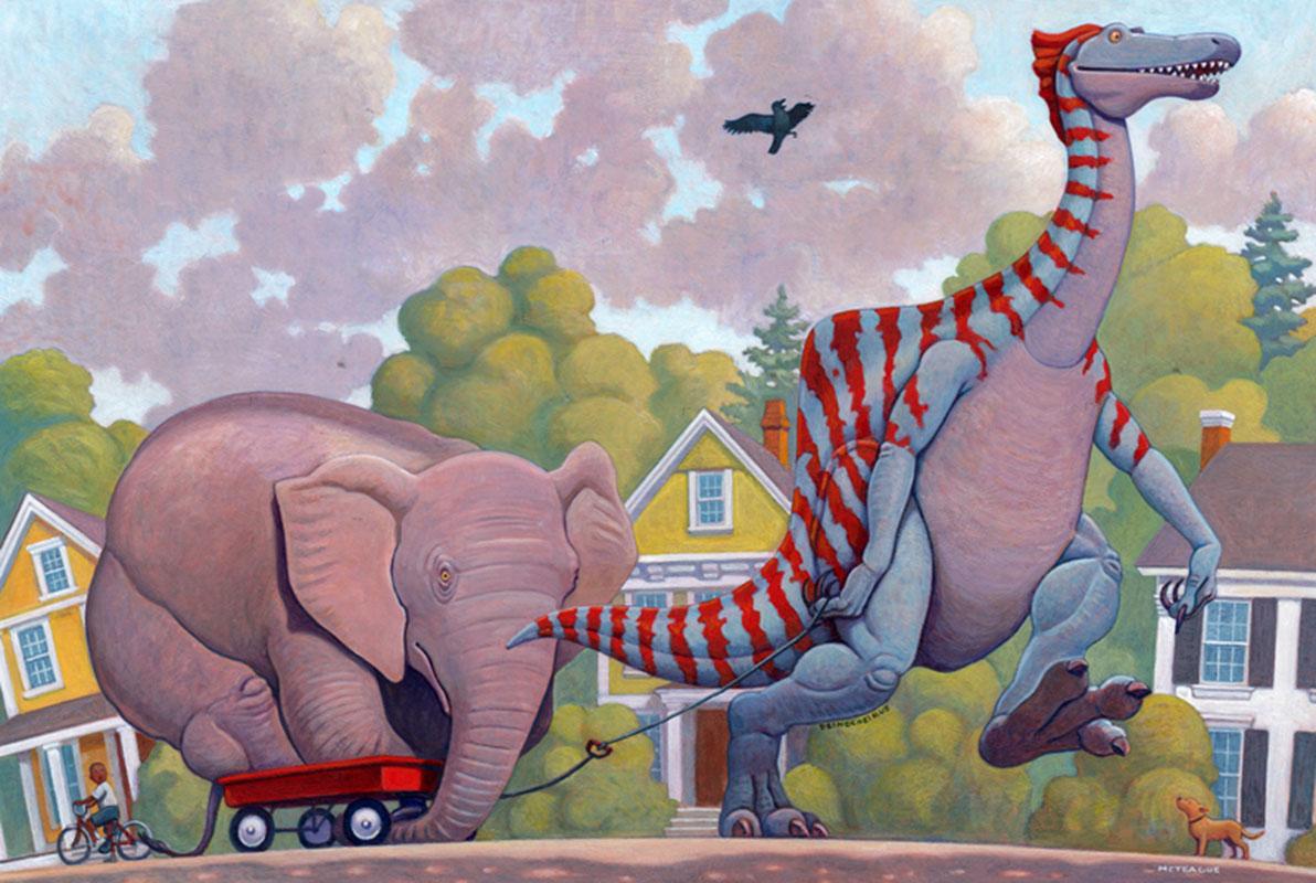 Deinocheirus Adopts Elephant