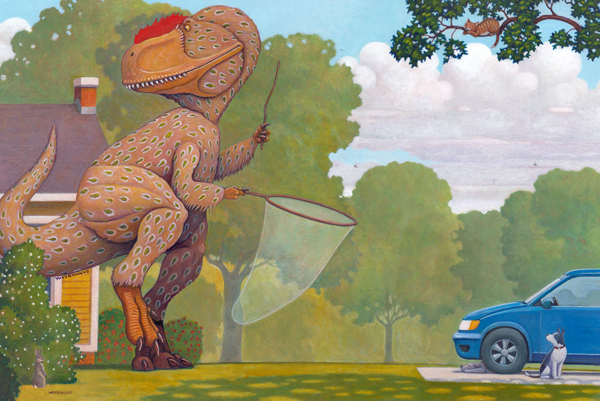 Yutyrannus On The Prowl ∙ How Do Dinosaurs Choose Their