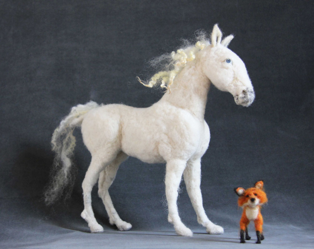 Horse and Fox (Dolls by Jane Dyer)