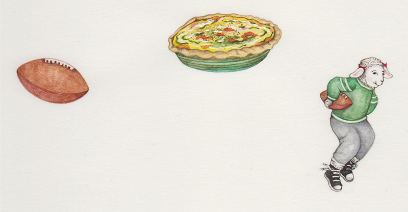 Quarterback Quiche Featuring Pearl Character