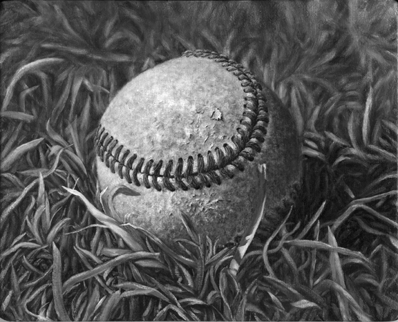 My Son's Baseball (Underpainting)