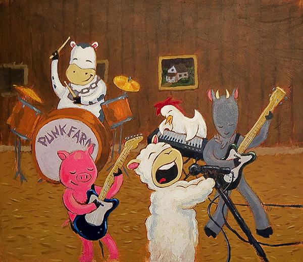 Punk Farm Finishes Their Rehearsal