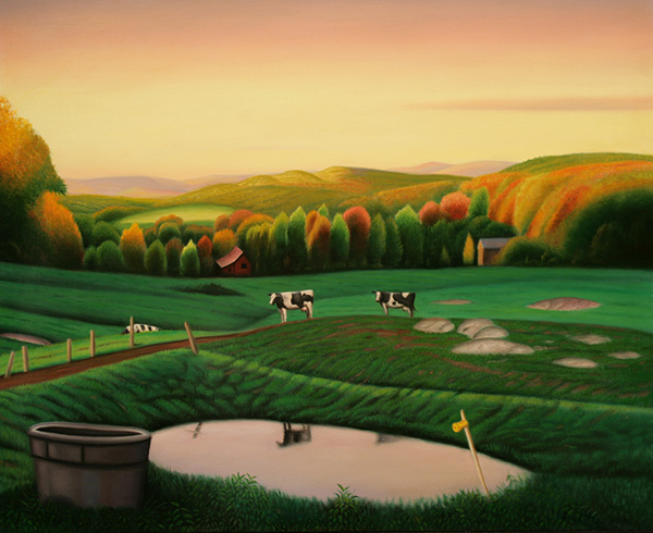 Landscape with Three Cows