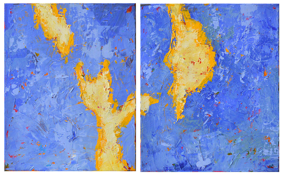 There's a Crack in Everything diptych