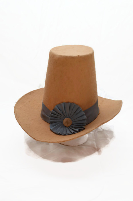 Yellow Hat with Blue Ribbon
