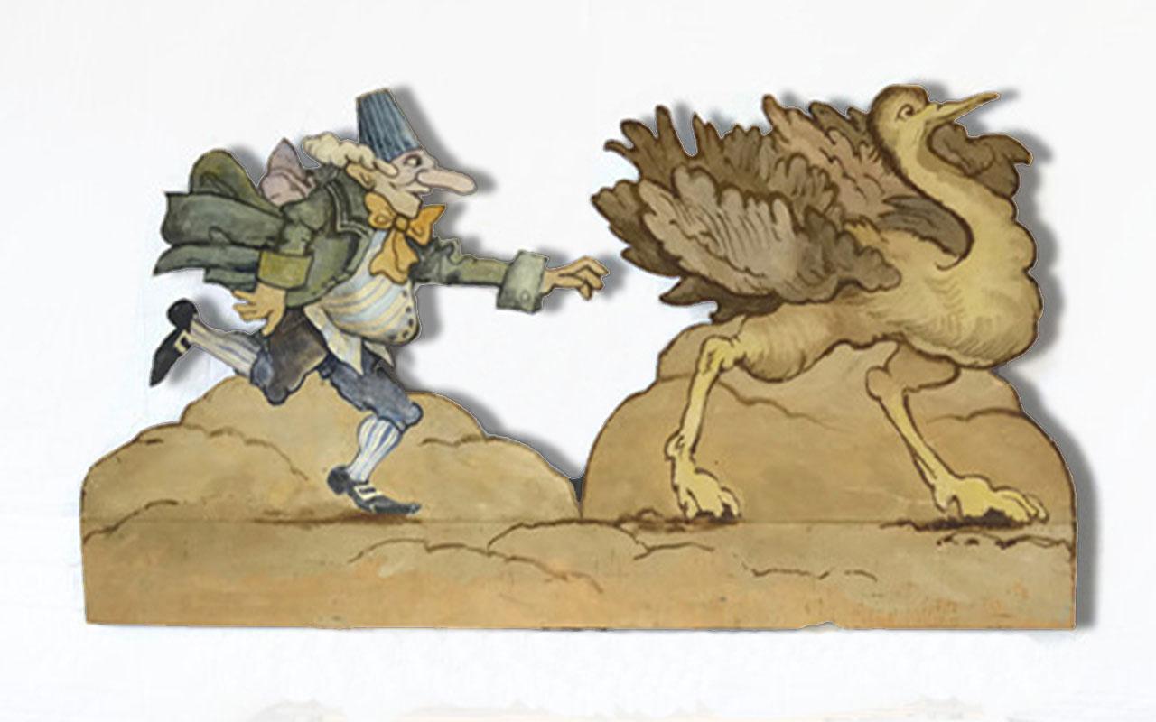 Trouffaldino Chasing an Ostrich