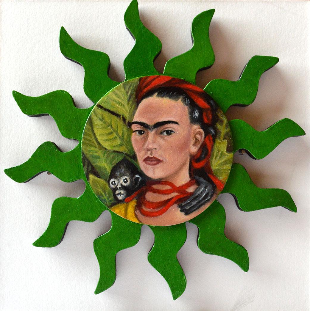 After Frida Kahlo: Self Portrait with Monkey, 1940