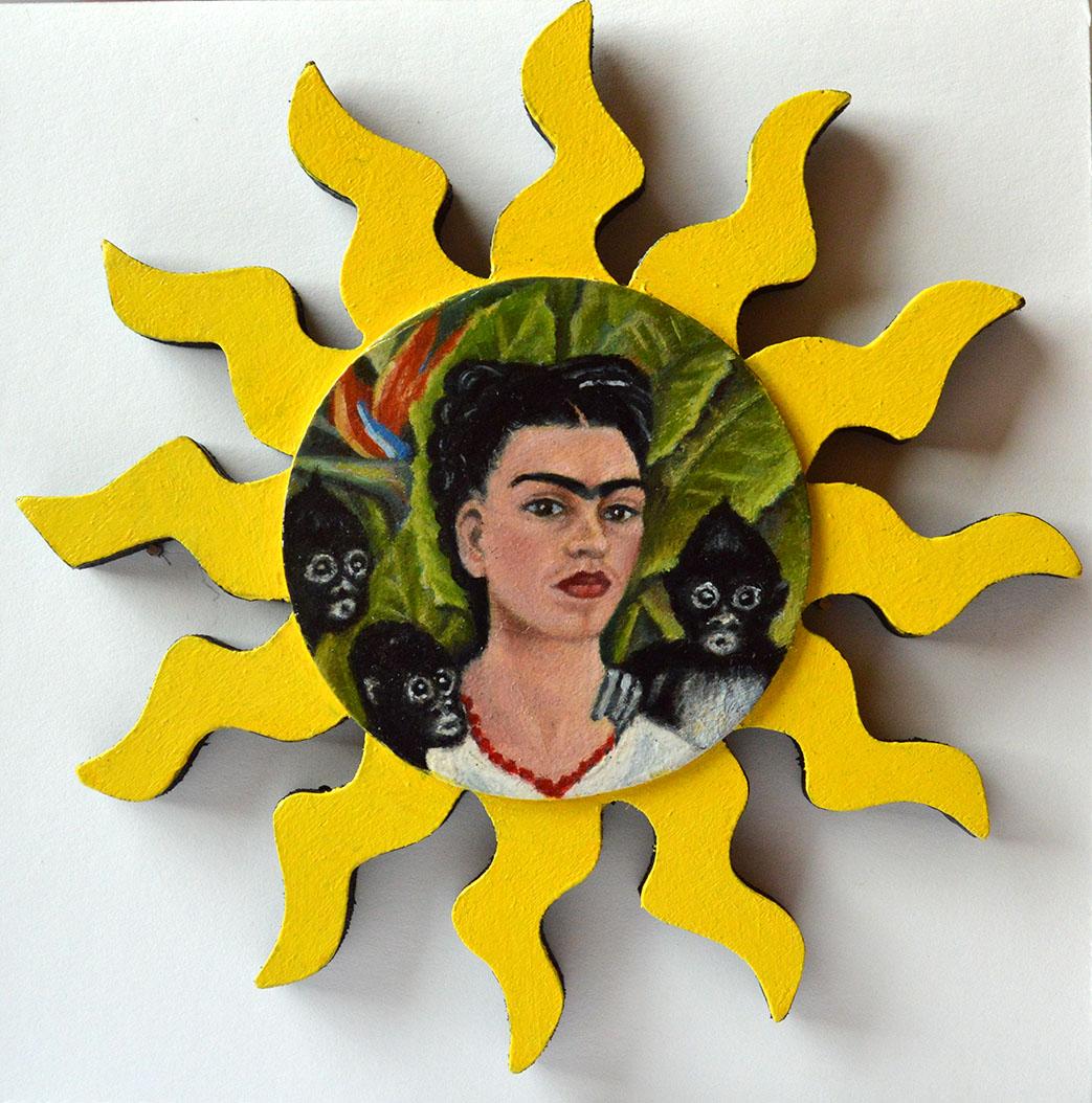 After Frida Kahlo: Self Portrait with Monkeys, 1943