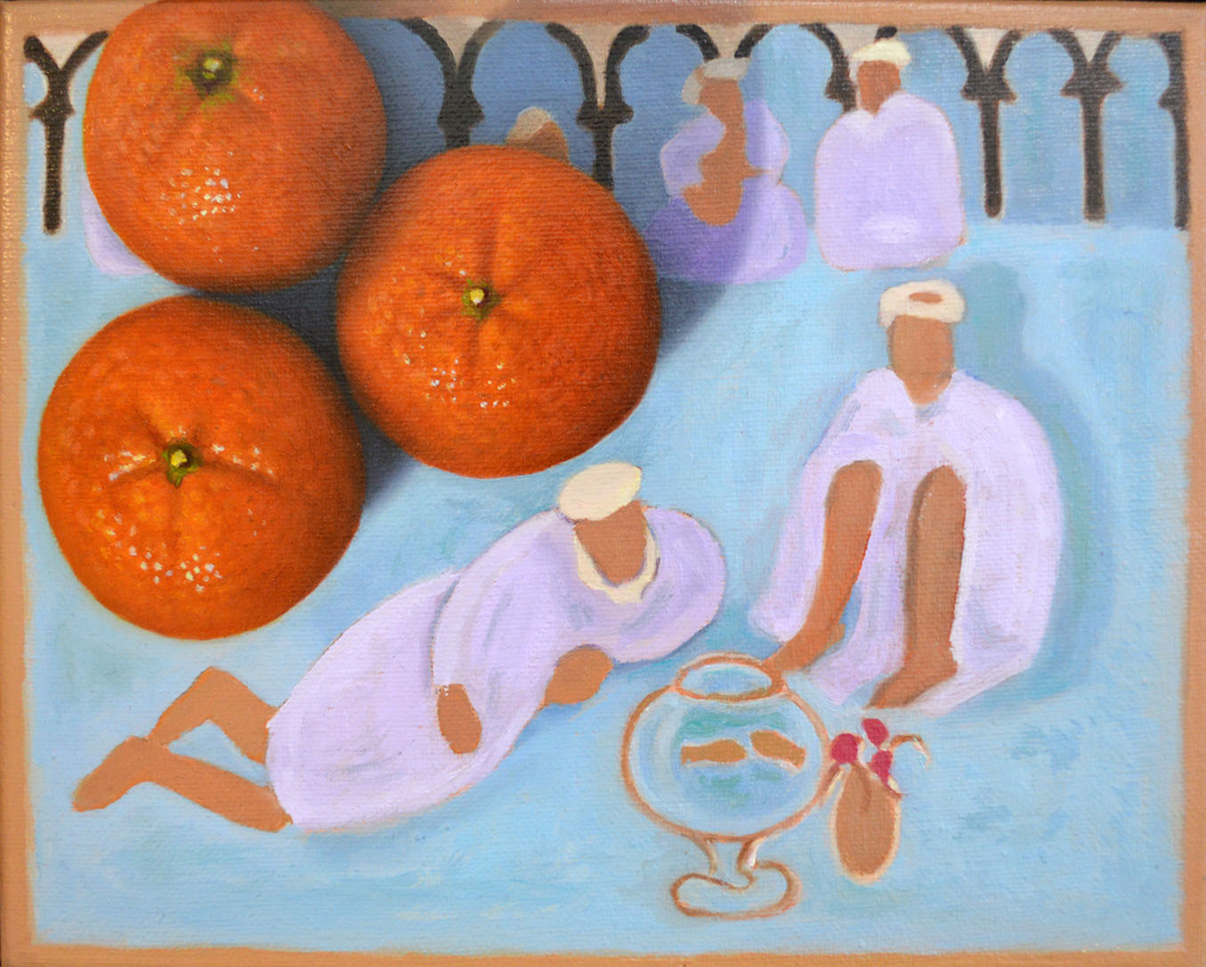 Clementines with Arab Coffee House 8×10