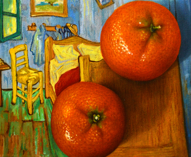 Clementines with Bedroom at Arles (after Van Gogh