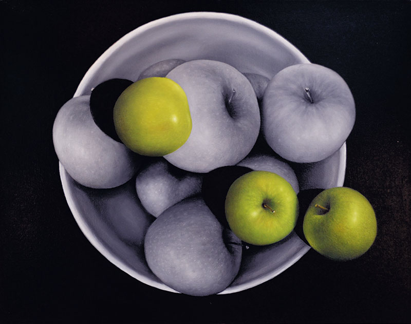 Green Apples with Bowl of Apples 16×20