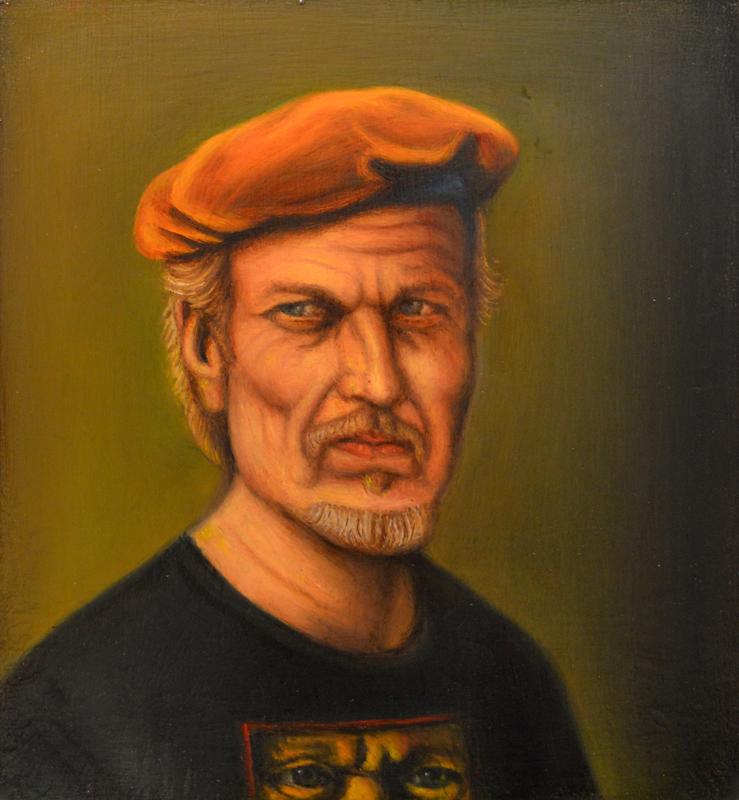 Self Portrait in Orange Beret