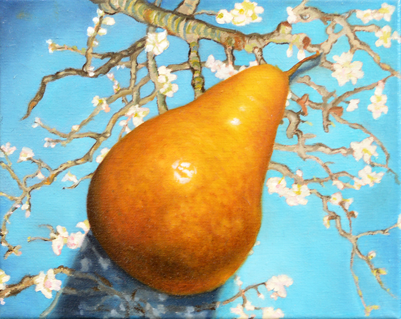 Pear on Almond Blossoms