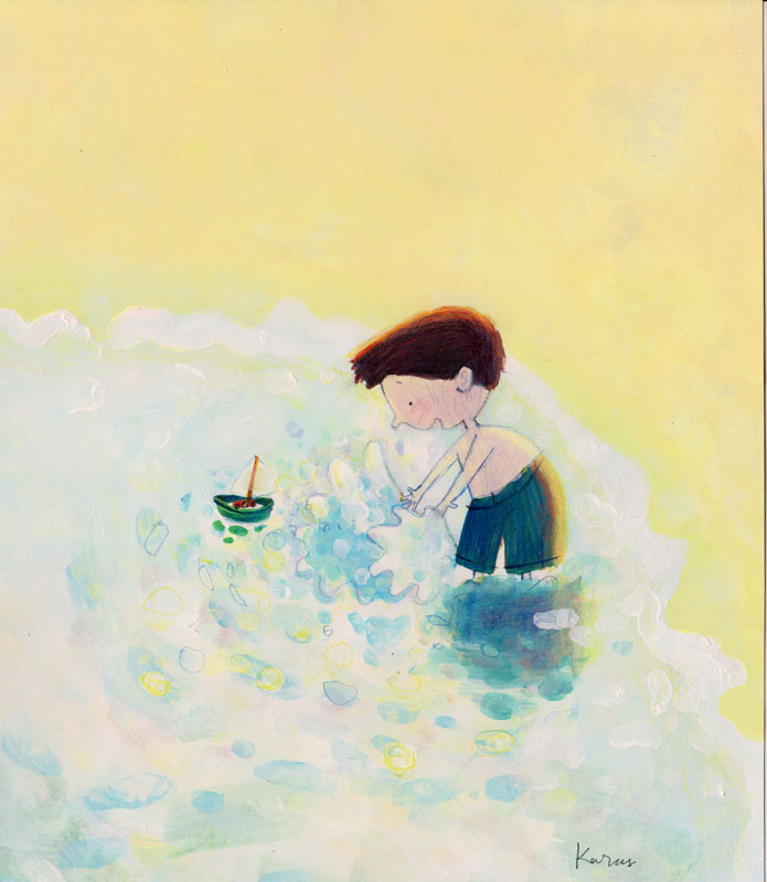 Toy Sailboat 8×10.5 in