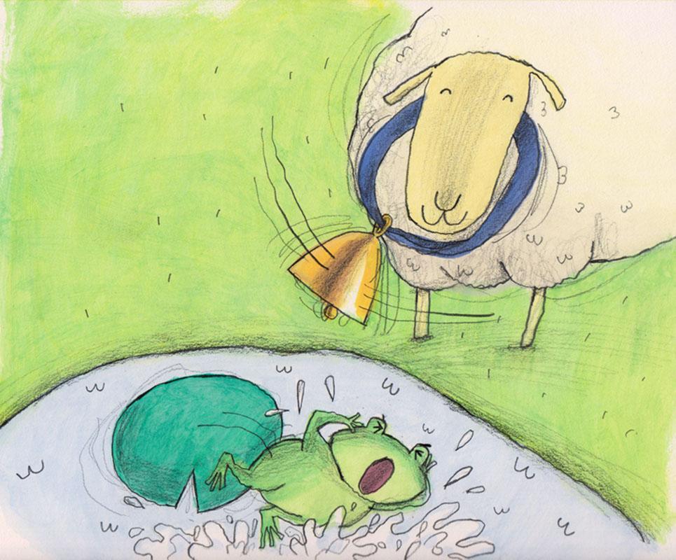 Frog Gets Wet