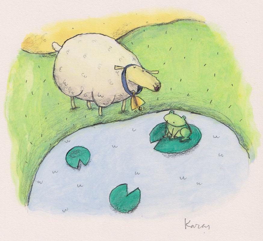 Sheep Meets Frog
