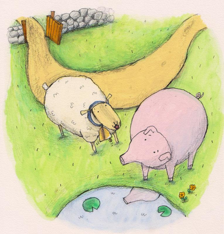 Sheep Meets Pig