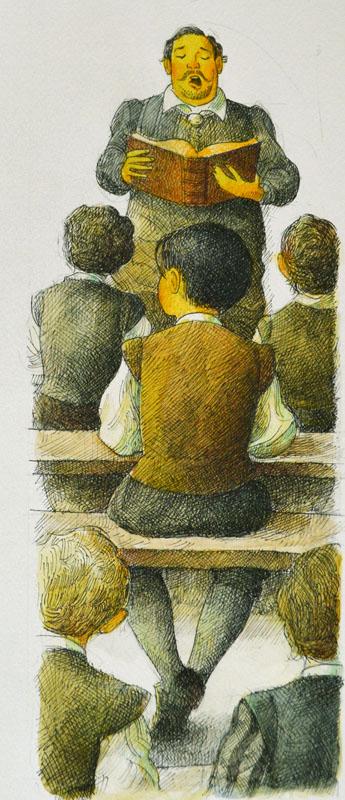 The Teacher Reads Solemn Tales