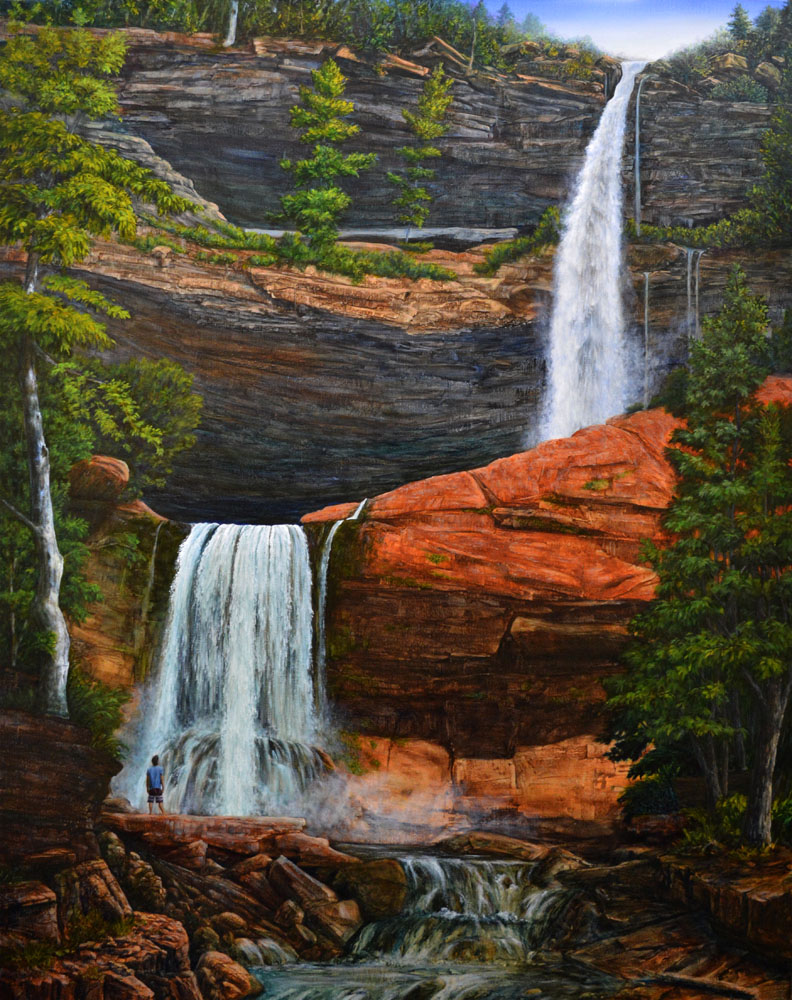 Awesome (with Brahm at Kaaterskill Falls)