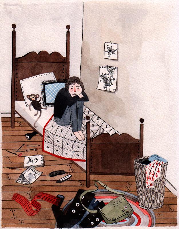Prue in Bed Study