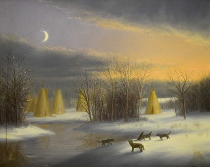 Moon Tepees and Wolves