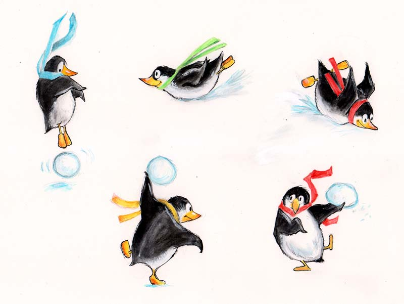 Cover and Front Flap Penguins