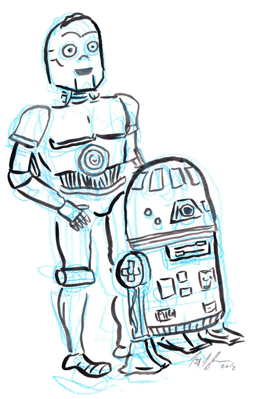 T3PO and RW22 Character Study