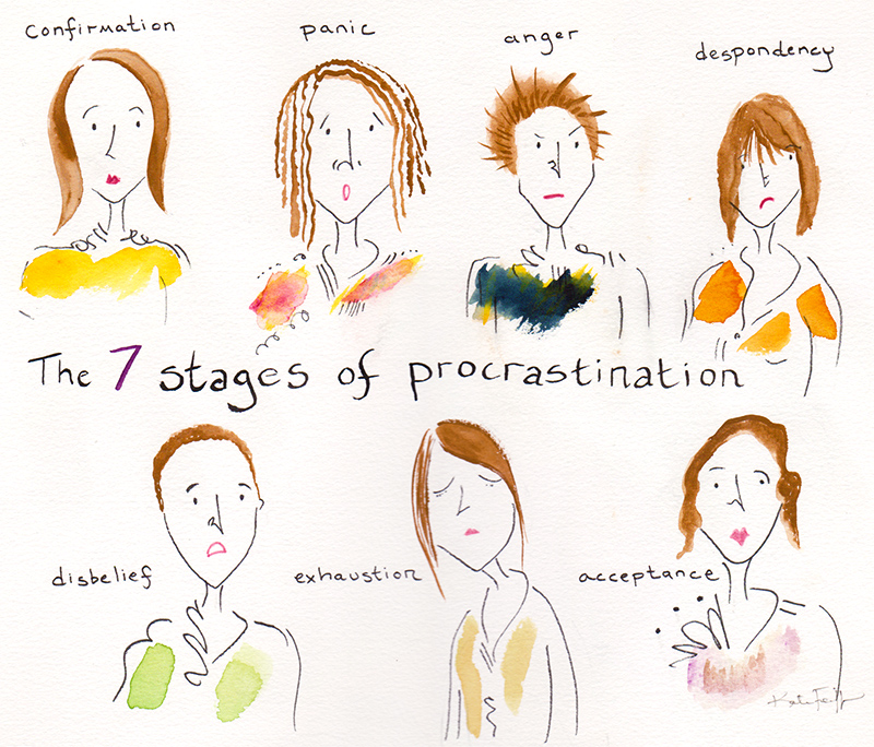 The 7 Stages of Procrastination
