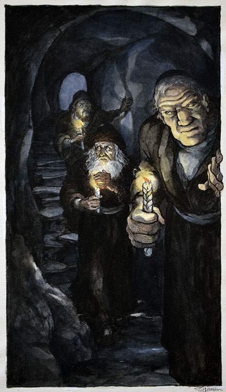 Three Braided Candles -Abraham, Rabbi Loew, and the Golem