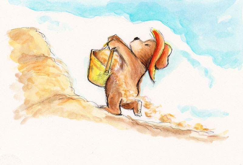 He Carried Pails and Pails of Sand