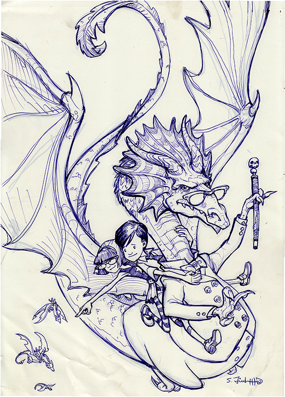 Scary School Monsters on the March Cover Sketch