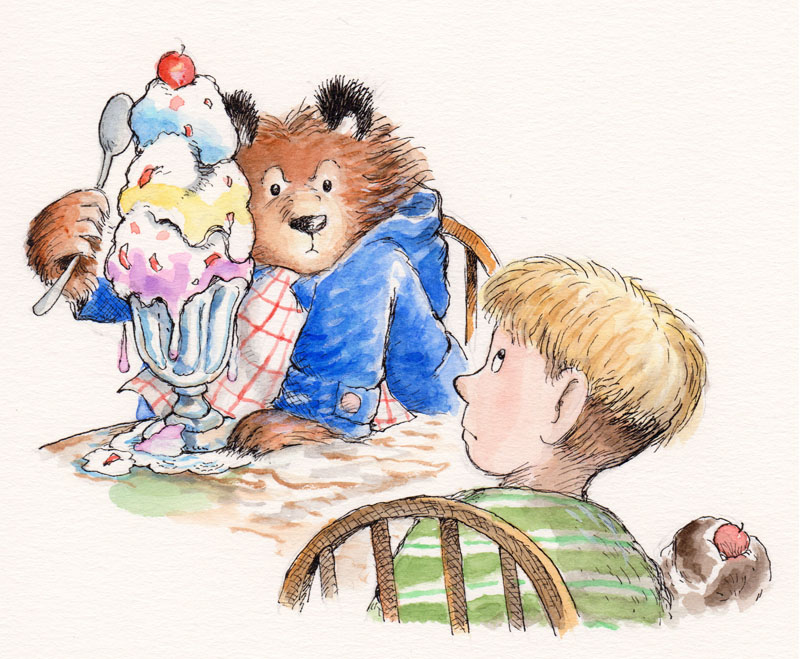 Bears Are Good at Eating Ice Cream