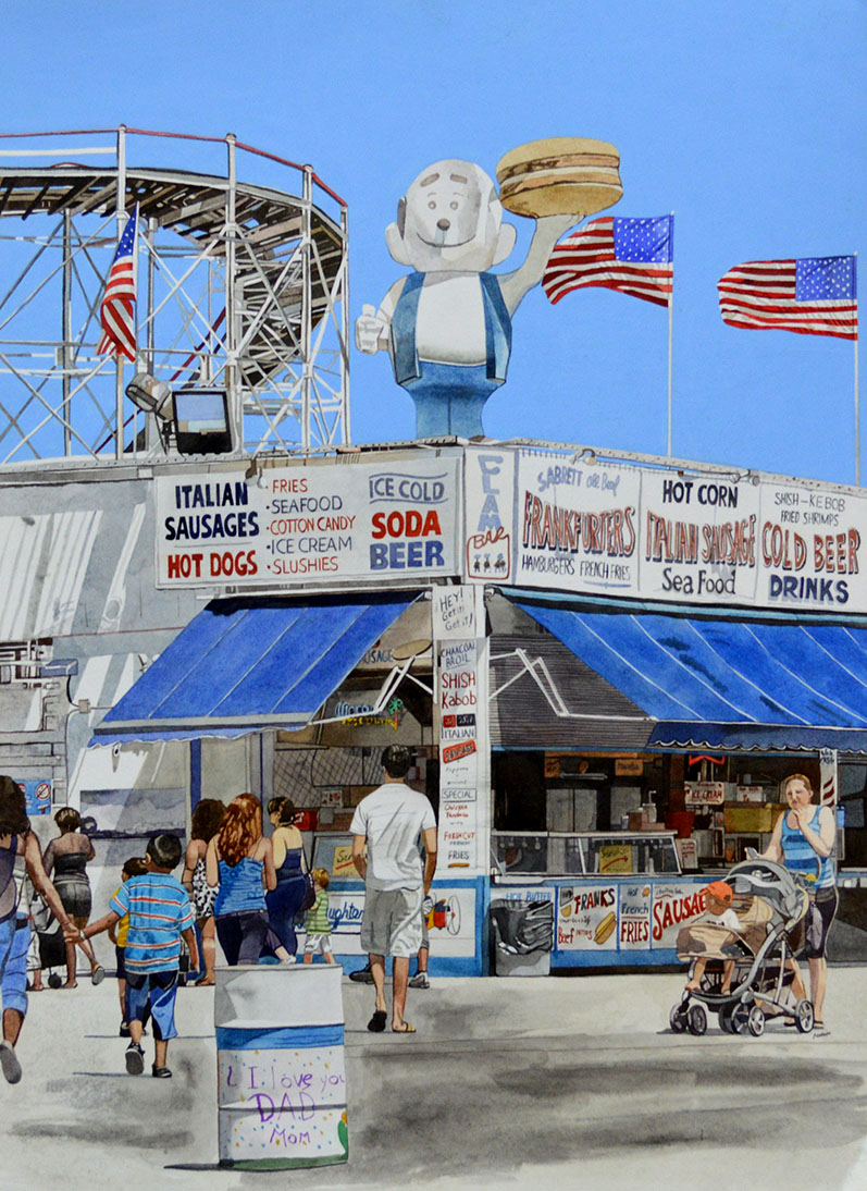Coney Island- Red White and Blue