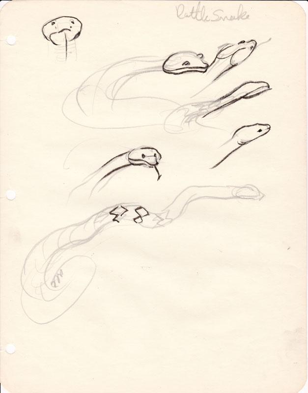 Sketchbook Rattlesnake