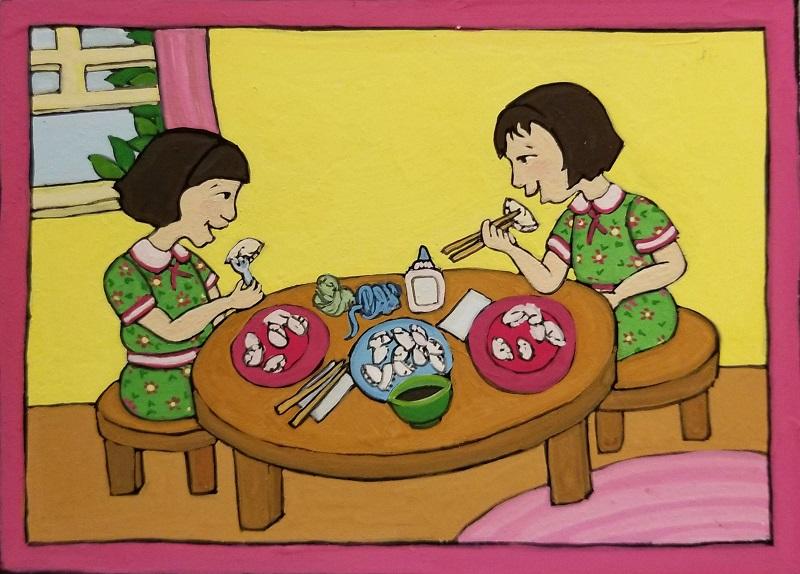 Eating Dumplings