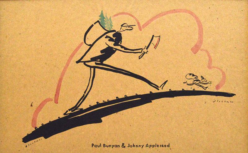 Paul Bunyan and Johnny Appleseed