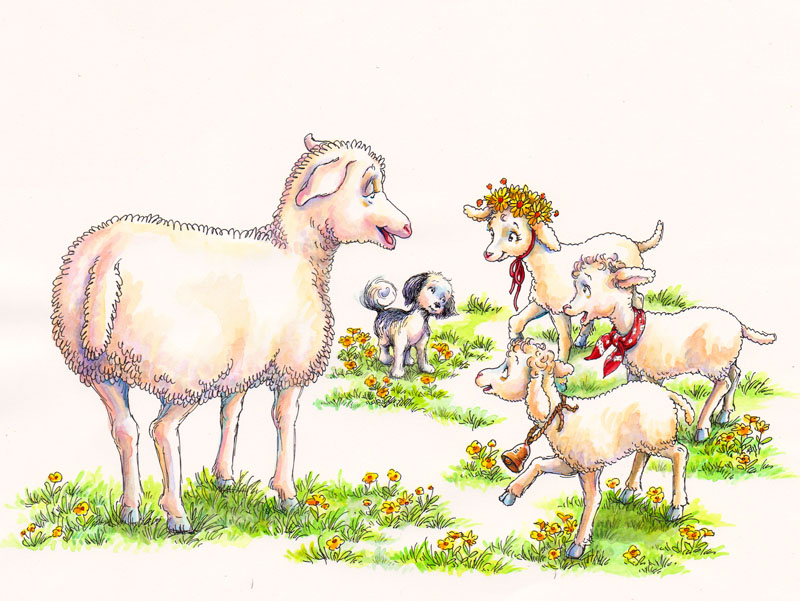 Mother Speaks to the Little Lambs