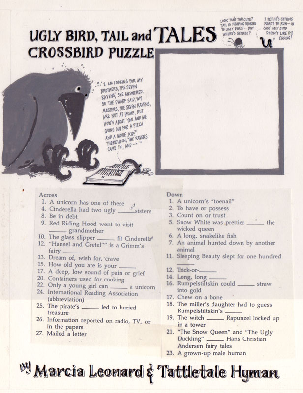 Ugly Bird, Tail and Tales Crossword