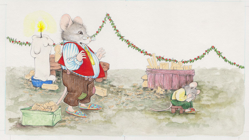 Little Mouse Plops on a Stool