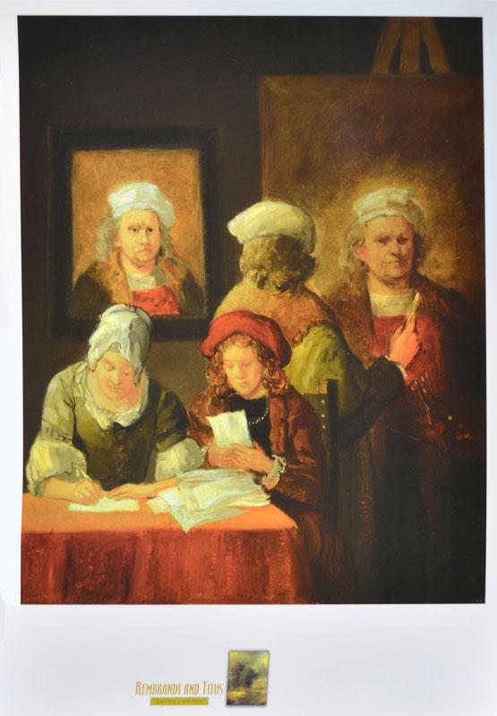 Rembrandt, Titus and Hendrickje
