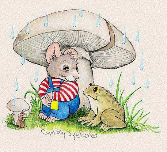 A Mushroom Makes a Good Umbrella