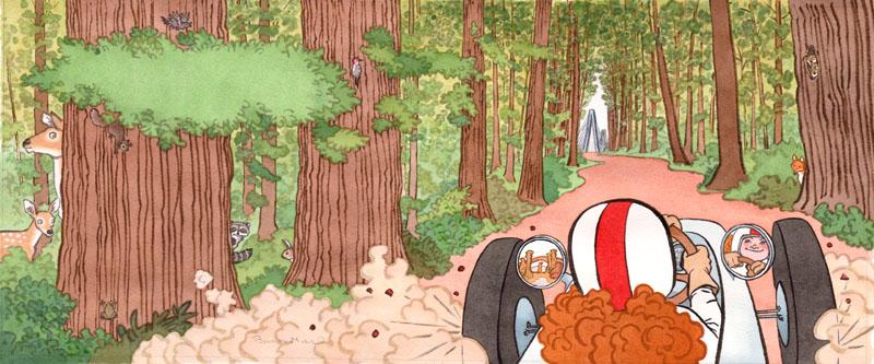 Annie Drove Through a Cool Damp Forest