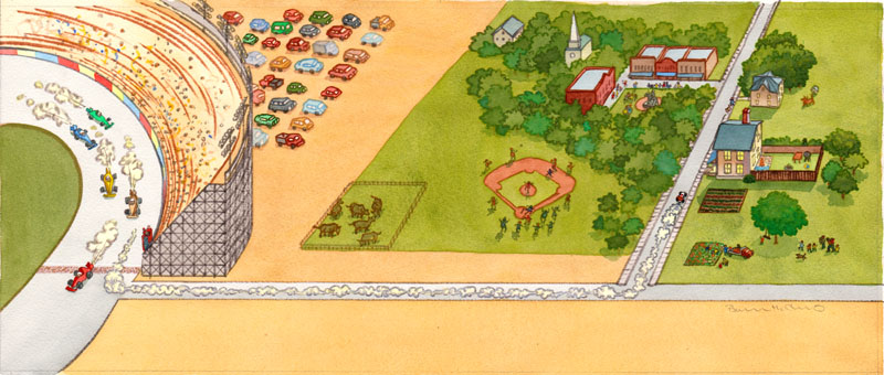 A Familiar Road that Led to a Familiar House