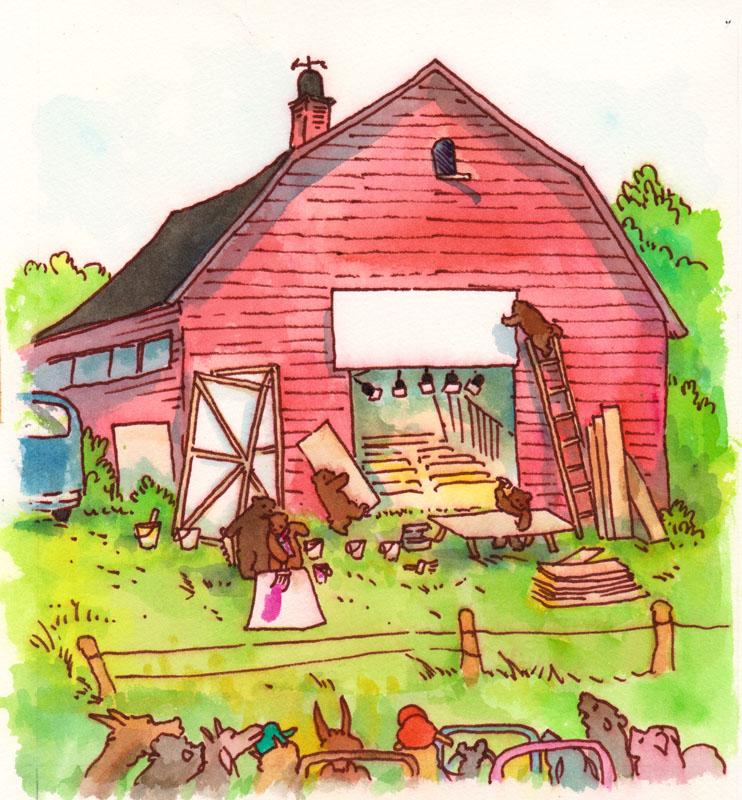 Preparing the Barn