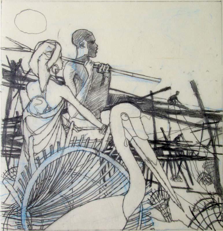 W is for Wagenia Sketch