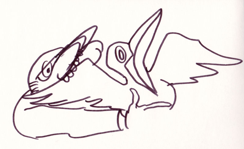 And Pulled Out a Duck Study VI