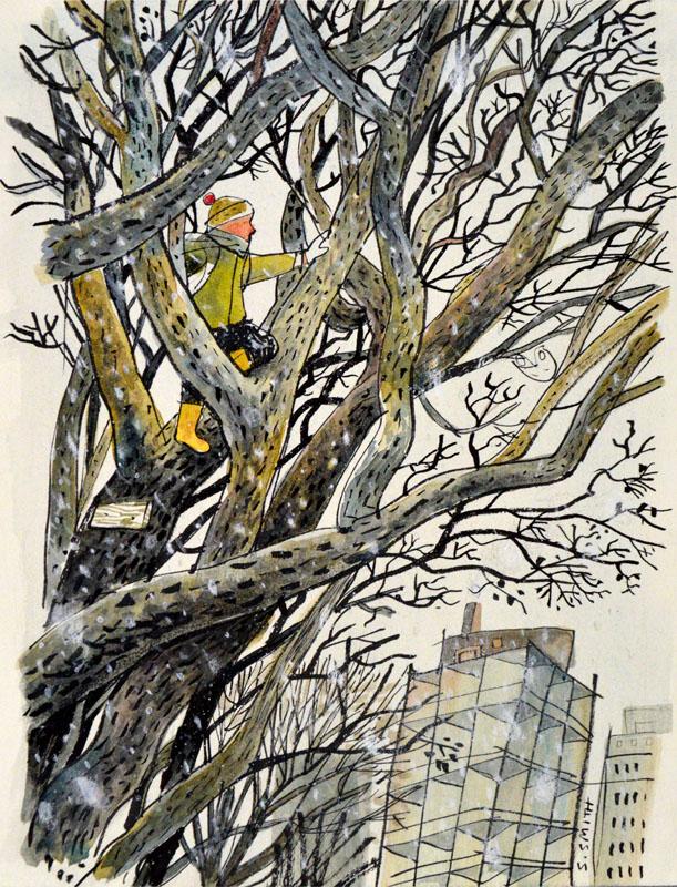 Up the Black Walnut Tree Study I