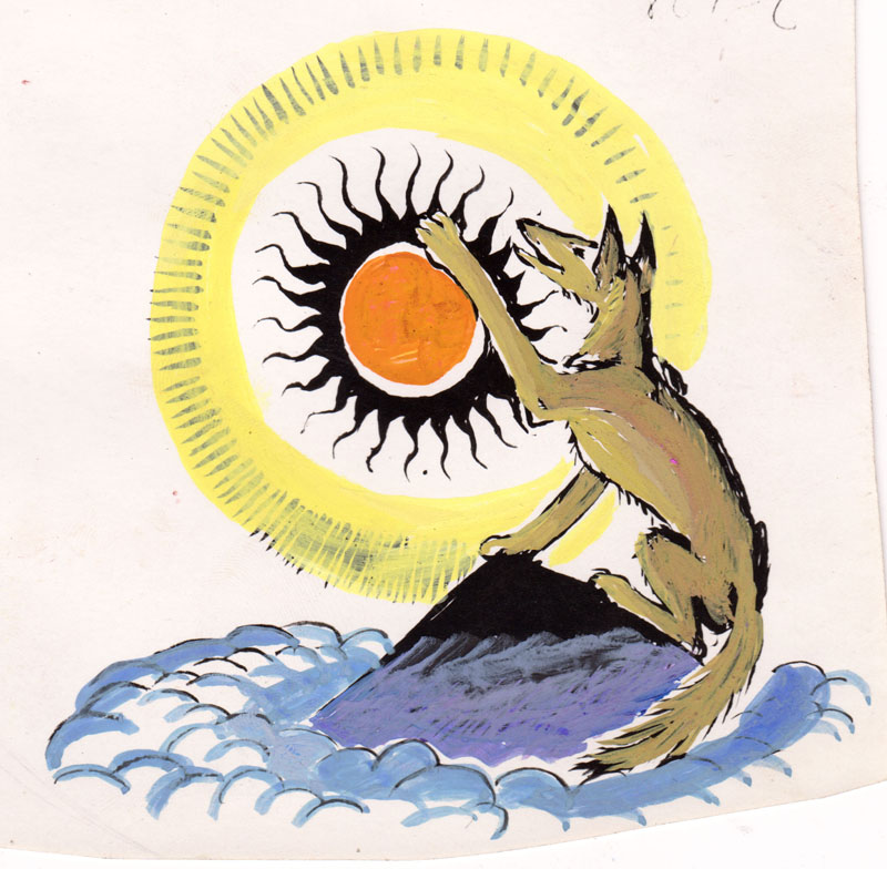 Coyote Reaches for the Sun Study Colored