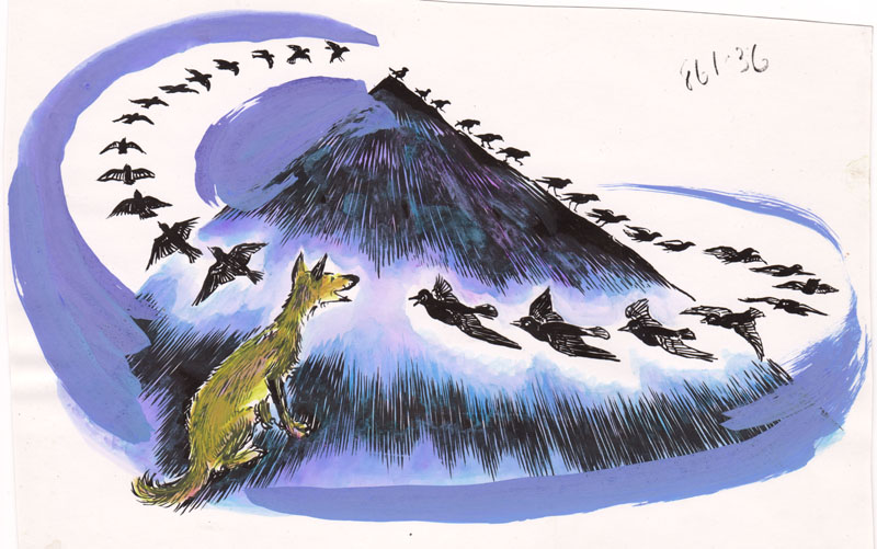 How the Coyote Flew with the Blackbirds Colored